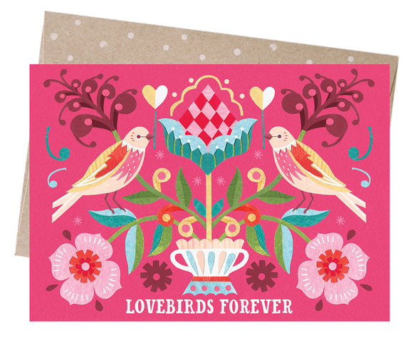 Earth Greetings Valentine's Card -  Lovebirds Forever from have you met charlie a gift shop in Adelaide south Australian with unique handmade gifts