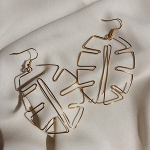 Fencesitter - Monstera Earrings silver from have you met charlie a gift shop with Australian unique handmade gifts in Adelaie South Australia