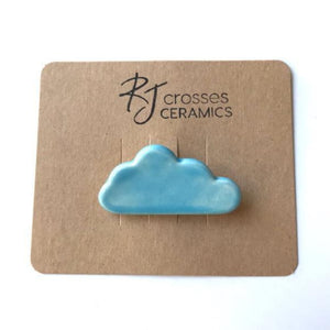 RJ Crosses Brooches - Clouds from have you met charlie a gift shop with Australian unique handmade gifts in Adelaide South Australia
