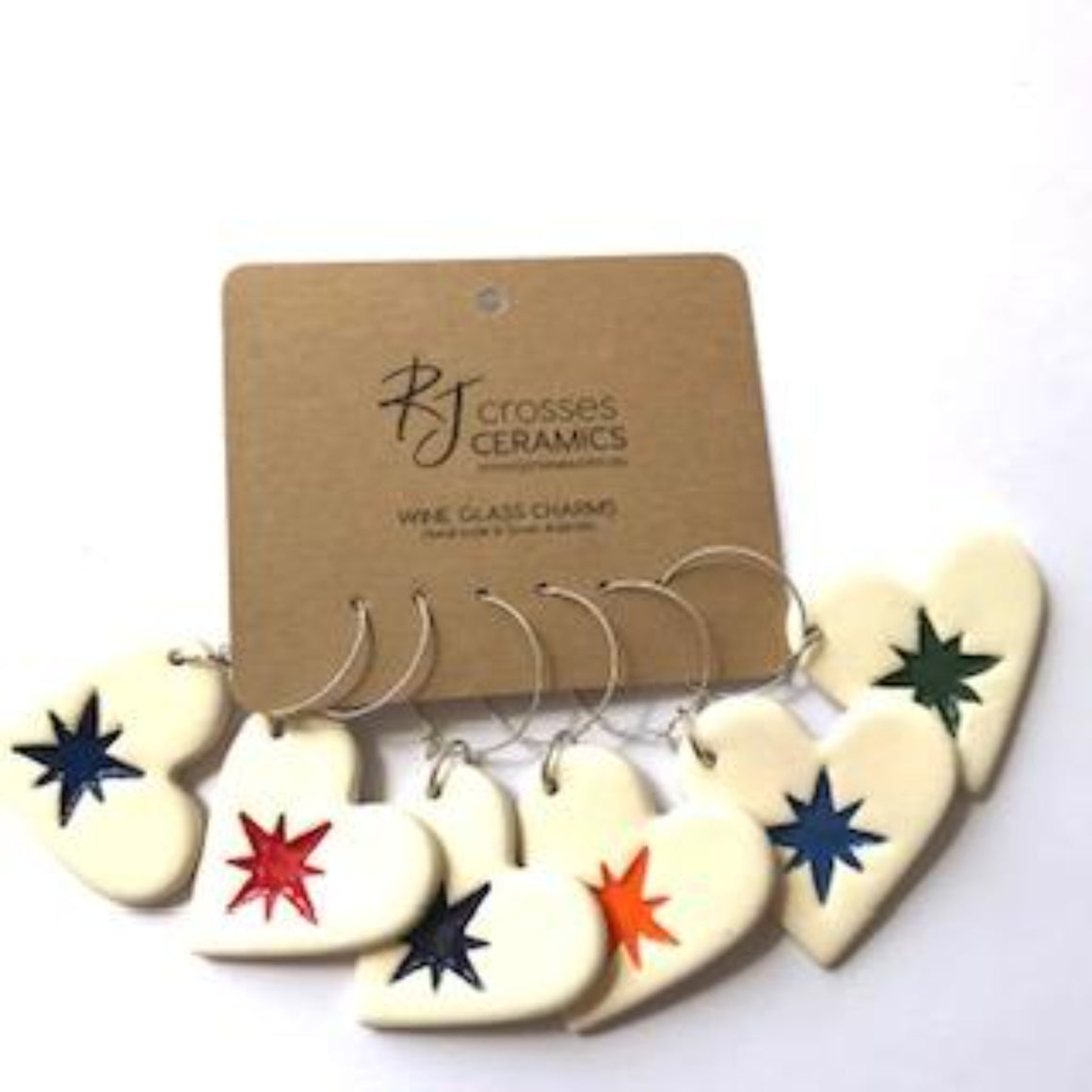 RJ Crosses - Ceramic Wine Glass Charms - Various