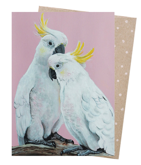 Earth Greetings Card - Sulphur Crested Pair