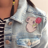 Koala iron on patch by missy minzy from have you met charlie a gift shop with Australian unique handmade gifts in Adelaide South Australia