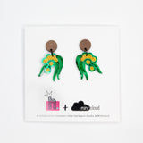 Mintcloud & Little Harlequin Studio Collaboration Earrings - Wattle Dangles