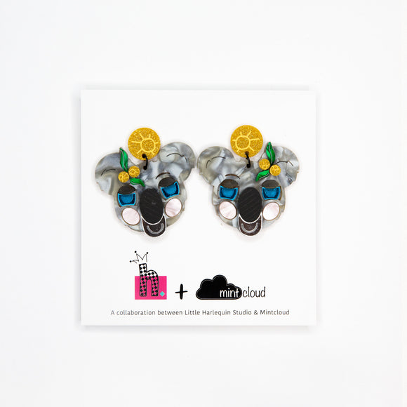 koala earrings have you met charlie adelaide regent arcade handmade studs dangles