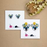 Mintcloud & Little Harlequin Studio Collaboration Earrings - Khaz The Koala Dangles