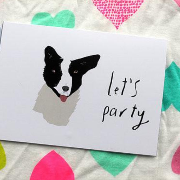 Nicola Rowlands Card - Let's Party from have you met charlie a gift shop with Australian unique handmade gifts in Adelaide South Australia