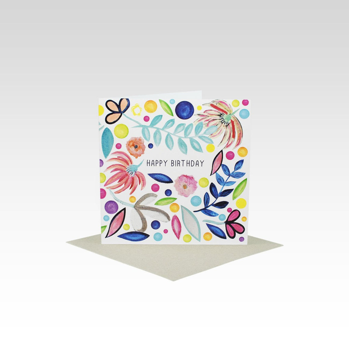 Rhi Creative Greeting Card Mini - Crazy Floral Card