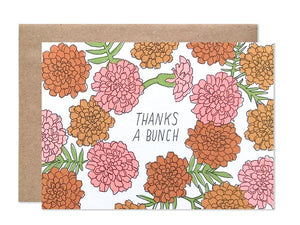 Hartland Brooklyn Card - Thank you Marigolds
