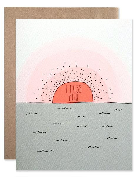 Hartland Brooklyn Card - I Miss You Sunset