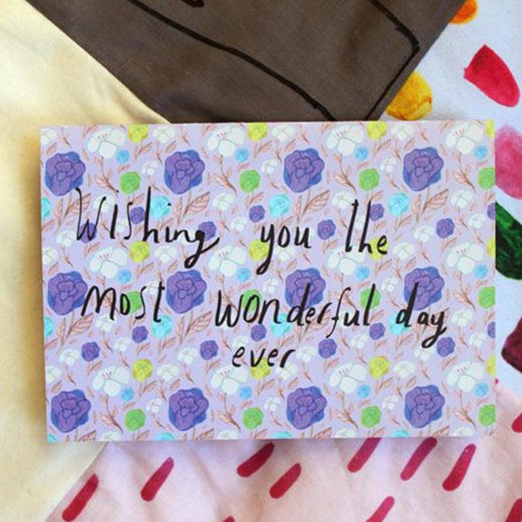 Nicola Rowlands Card - Wonderful Day from have you met charlie a gift shop with Australian unique handmade gifts in Adelaide South Australia