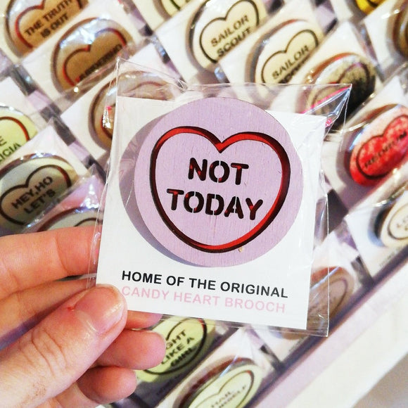 For The Love Of Vintage Brooch - Not Today from have you met charlie a gift shop with Australian unique handmade gifts in Adelaide South Australia