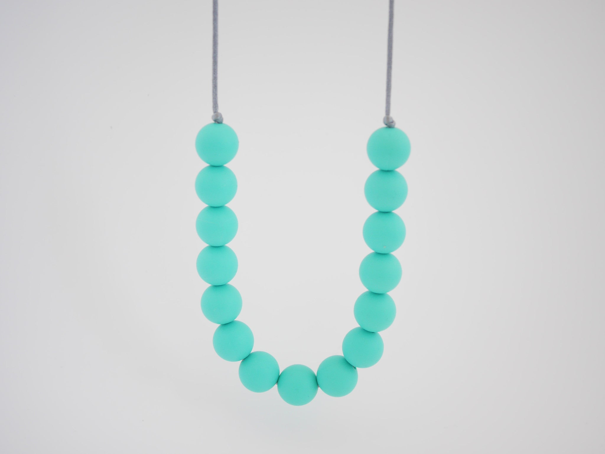 Indi & Frey Mini Gumball Necklace - Teal
