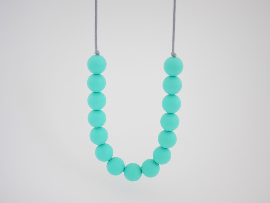 Indi & Frey Mini Gumball Necklace - Aqua