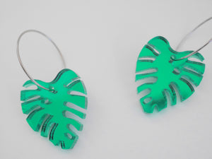 Mintcloud Earrings - Monstera Leaf Dangles