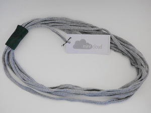 Mintcloud Necklaces - Short Jersey with Leather Detail Greys