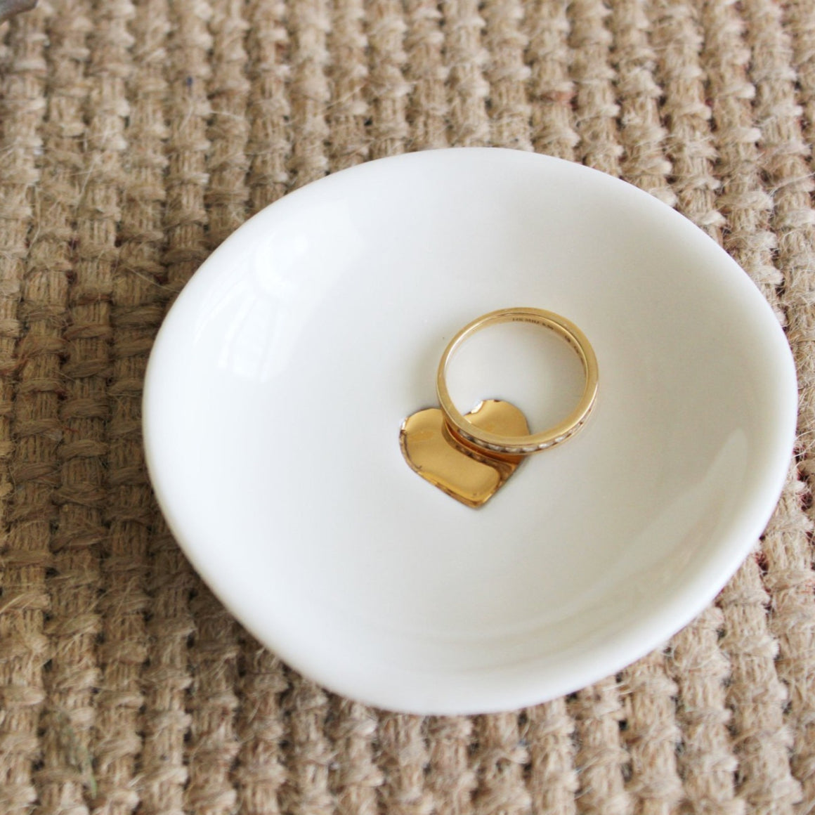 Tea 4 Two Art Jewellery Dish - Round Heart