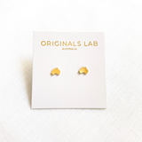 gold australia studs by originals lab from have you met charlie a giftshop with unique handmade australian gifts in adelaide south australia