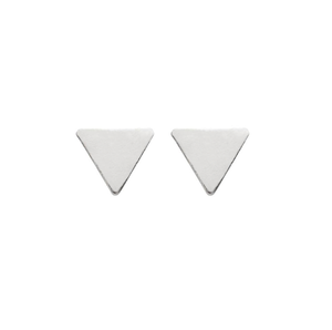 tiny sterling silver studs in triangle shape from unique gift shop have you met charlie in adelaide south australia