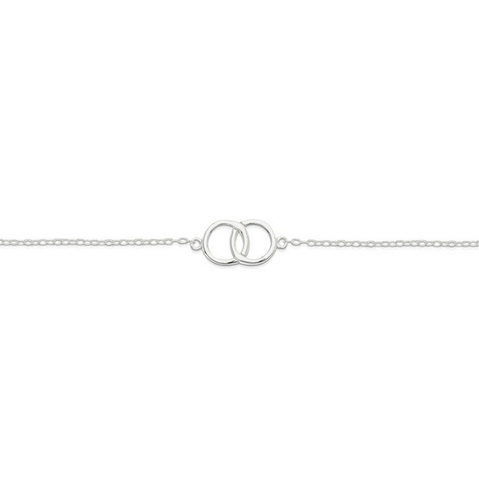 Sterling Silver Bracelet - Entwining Circles