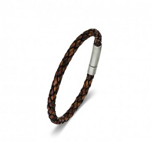 Stainless Steel leather Men's Bracelet from have you met charlie? a unique gift shop in adelaide, south australia
