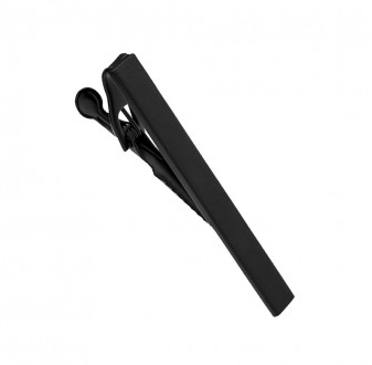 Stainless Steel Tie Clip - Black Brushed