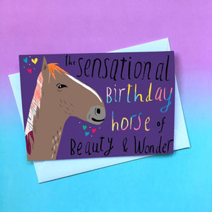 Nicola Rowlands Card - Birthday Horse from have you met charlie a gift shop with Australian unique handmade gifts in Adelaide South Australia