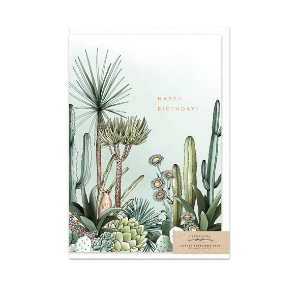 Typoflora Card - Desert Birthday