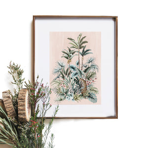 blush tropical print by typoflora from have you met charlie a gift shop with Australian unique handmade gifts in Adelaide South Australia
