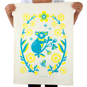 Earth Greetings Tea Towel - Outback Koala