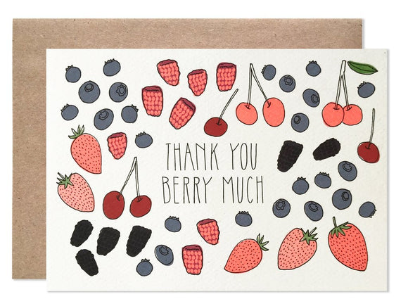 Hartland Brooklyn Card - Thank You Berry Much