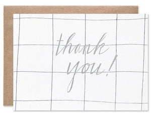 Hartland Brooklyn Card - Thank You Grid