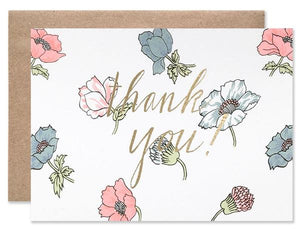 Hartland Brooklyn Card - Thank You Poppies