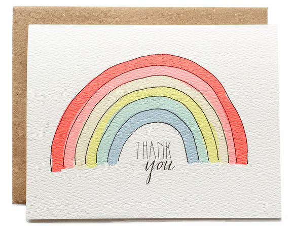 Hartland Brooklyn Card - Thank You Rainbow