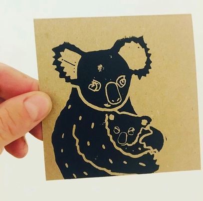 Value Laboratory Greeting Card - Koala with Baby in Arms