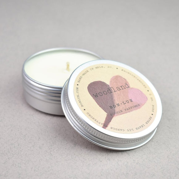 bon lux scented soy wax candle travel tin from have you met charlie a unique gift shop in adelaide south australia\