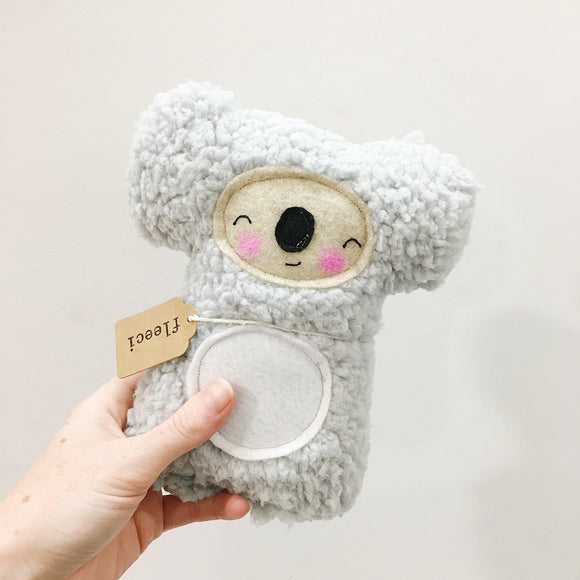 soft grey koala plush toy by fleeci from have you met charlie a gift shop with Australian unique handmade gifts in Adelaide South Australia
