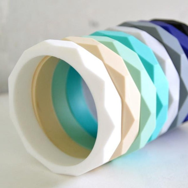 Indi & Frey Silicone Geo Bangles - Various Colours