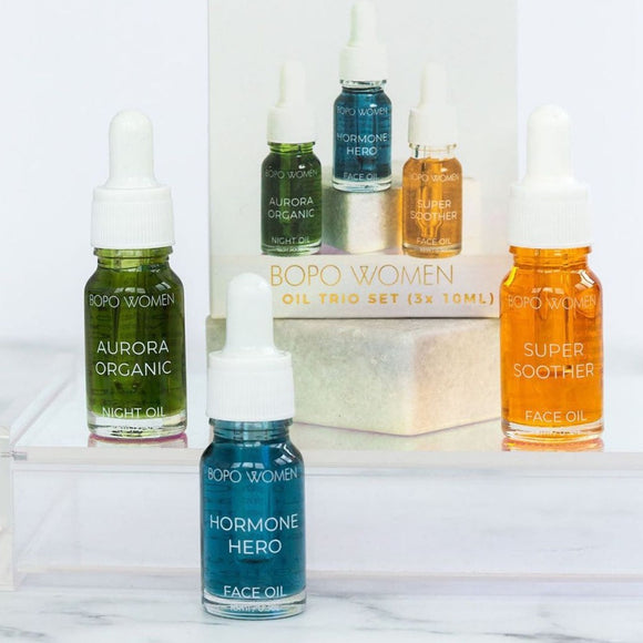 bopo women organic vegan cruetly free mimi face oil trilogy set made in australia from have you met charlie a unique gift shop in adelaiade south australia