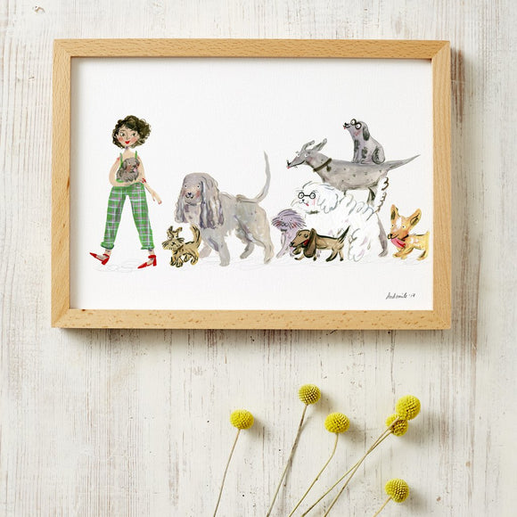 dog lovers art print by viktorija illustration from have you met charlie a gift shop with unique handmade australian gifts in adelaide south australia