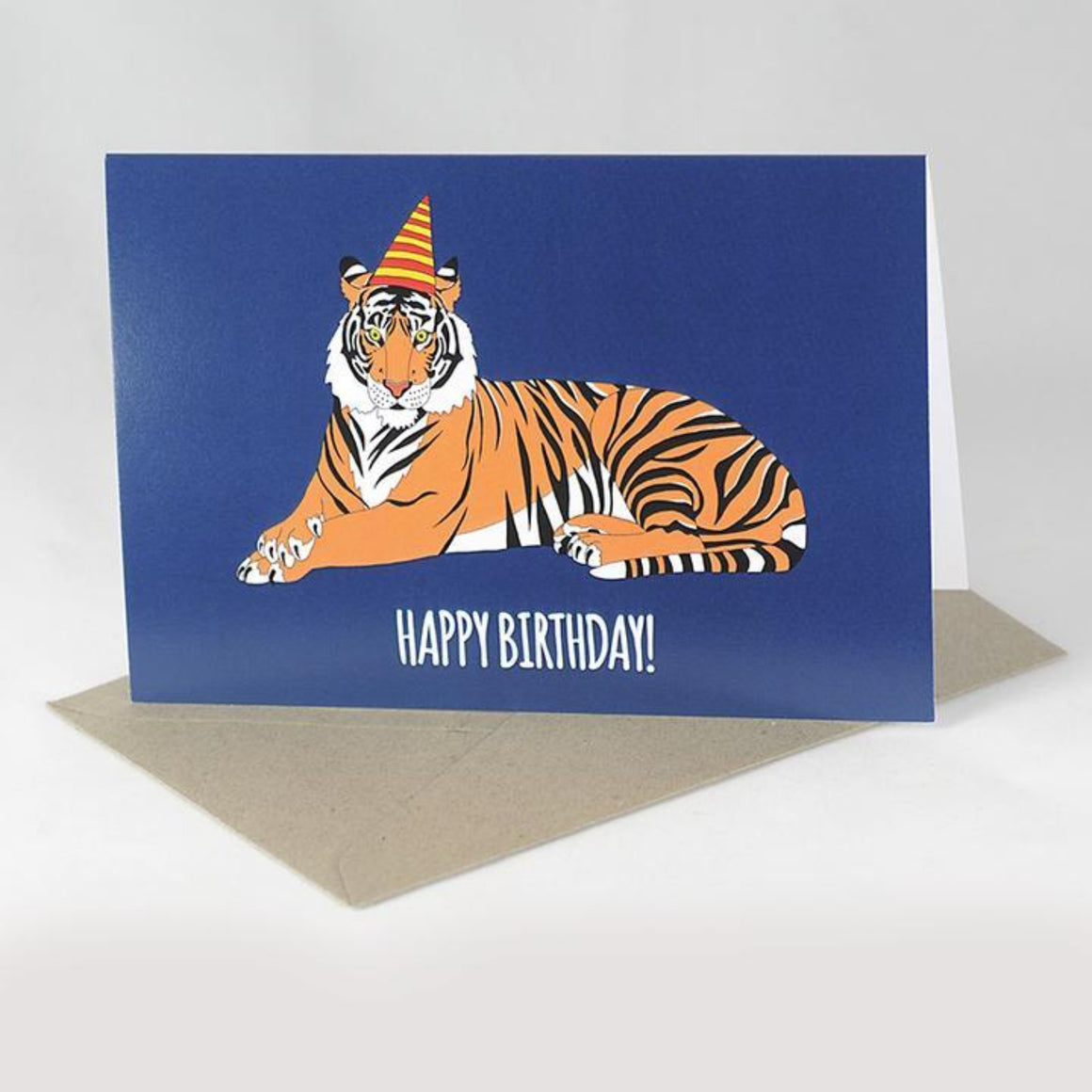 Red Parka Greeting Card - Tiger Birthday Card
