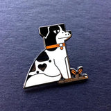 dog puppy Amar and Riley cute enamel animal pins from have you met charlie a gift shop with australian unique hand made gifts in adelaide south australia