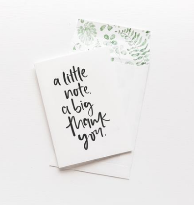 Emma Kate Co Greeting Card - A Little Note, A Big Thank You