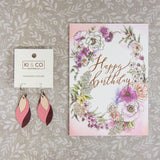 Typoflora Card - Blooming Birthday