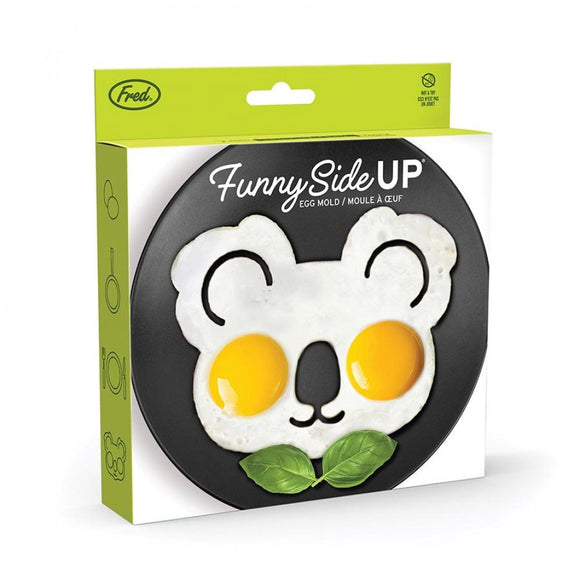 funny side up koala shaped egg mold by genuine fred available from have you met charlie? a unique gift shop in adelaide south australia