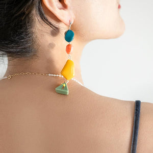 funky fun you geometric dangle earrings from have you met charlie? a unique gift store in adelaide, south australia