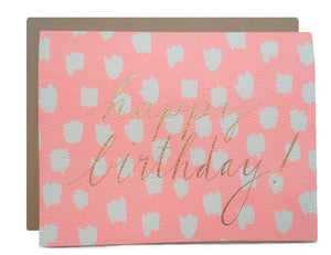 Hartland Brooklyn Card - Happy Birthday Dots with Gold Glitter Foil