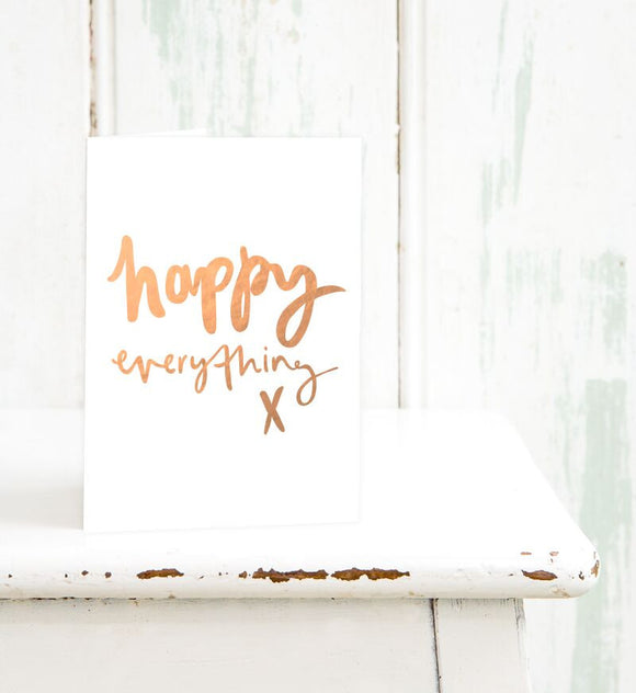 Emma Kate Co. Greeting Card - Happy Everything