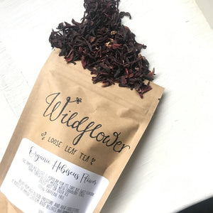 Organic Hibiscus Flower Tea - 50g from have you met charlie a gift shop with Australian unique handmade gifts in Adelaie South Australia