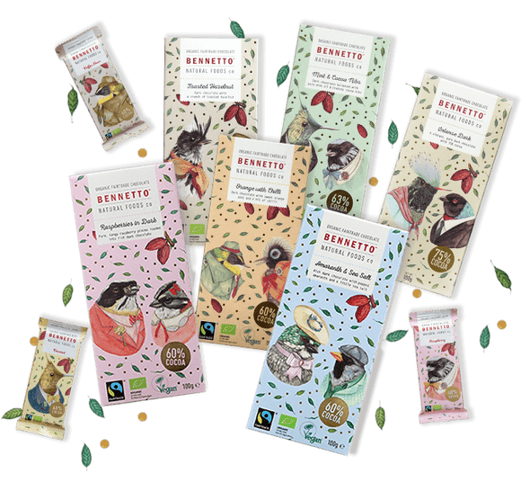 various bennetto organic chocolate bars from have you met  charlie a gift shop in adelaide selling unique handmade gifts