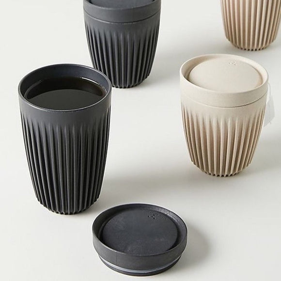 huskee reusable coffee cup in black or natural in 3 sizes from have you met charlie a unique gift shop in adelaide south australia